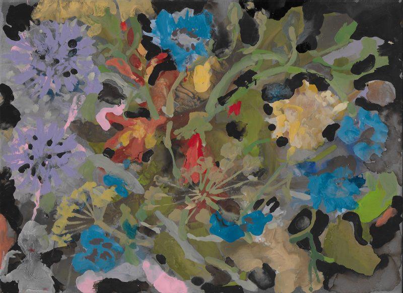 Geraldine Swayne | Women in the plants | 2019 | Enamel on aluminium | 25×30.5cm (framed)