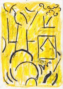 Kiera Bennett | Hooked 1 | 2020 | Oil pastel on paper | 29.7x21cm