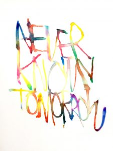 Graham Dolphin | Never Know Tomorrow | 2020 | Gouache on paper | 29.7x21cm