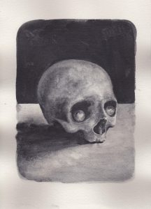 Richard Moon | Done to Death | 2020 | Water soluble graphite on paper | 30x21cm