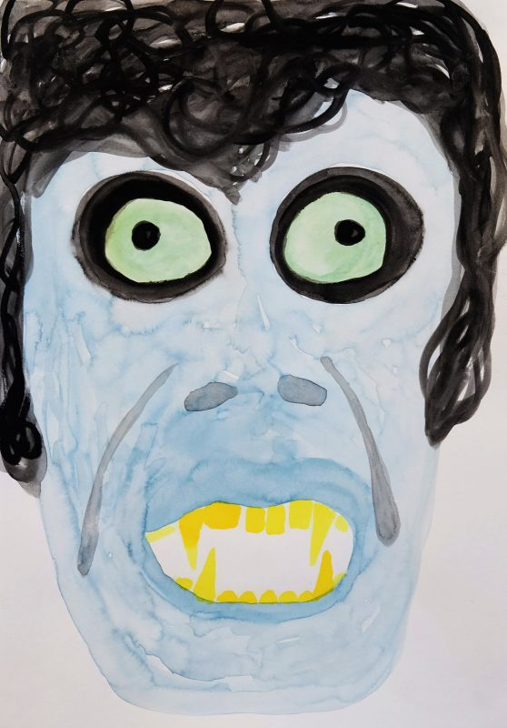 Alex Gene Morrison | Ghoul | 2015 | Ink on paper | 29.7x21cm