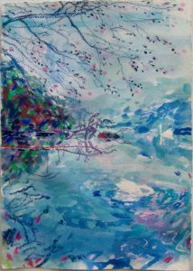Dominic Shepherd | Willow Pattern 1 | 2020 | Watercolour and pastel on paper | 30x21cm