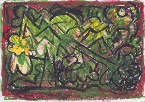 Kiera Bennett | Broken Tree 7 | 2020 | Oil pastel on paper | 21×29.7cm