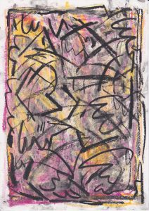 Kiera Bennett | Insomnia and Wishing 4 | 2020 | Oil pastel on paper | 29.7x21cm