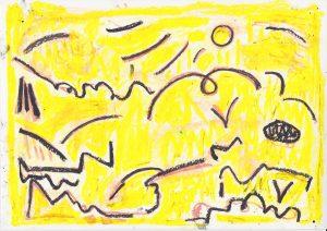 Kiera Bennett | Landscape Gust 2 | 2020 | Oil pastel on paper | 21×29.7cm