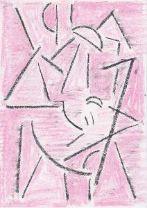 Kiera Bennett | Studio Shapes 2 | 2020 | Oil pastel on paper | 29.7x21cm