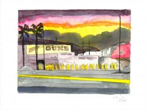 David Risley | Gun Store 5 | 2020 | Watercolour on Fabriano paper | 23x31cm