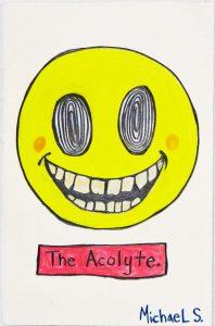 Michael Scoggins | Covid-19 Drawing 5 | 2020 | Graphite, coloured pencil on paper | 29.7x17cm