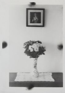 Michael Boffey | Double exposure, Flowered Vase | 2020 | Silver gelatin print on watercolour paper | 29.7x21cm