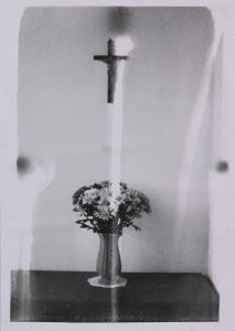 Michael Boffey | Still Life with Crucifix 1 | 2020 | Silver gelatin print on watercolour paper | 29.7x21cm