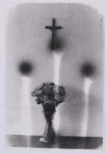 Michael Boffey | Still life with Crucifix 2 | 2020 | Silver gelatin print on watercolour paper | 29.7x21cm