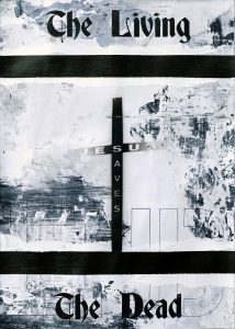 Zavier Ellis | The Living & The Dead (Saves) I | 2020 | Acrylic, biro on digital gloss print | 29.7x21cm