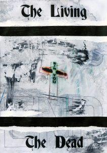 Zavier Ellis | The Living & The Dead (Sin) I | 2020 | Acrylic, biro on digital gloss print | 29.7x21cm