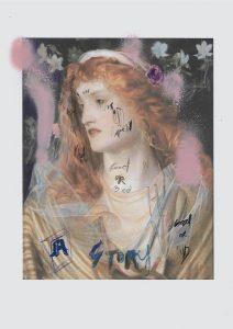 Sam Jackson | Good Or Bad | 2020 | Spray paint, ink, pencil on paper | 29.7x21cm