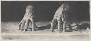 Richard Moon | The Medium III | 2020 | Water soluble graphite on paper | 15.5×33.5cm