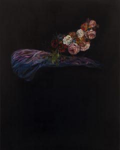 Emma Bennett | Threads | 2020 | Oil on oak panel | 25x20cm