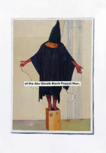 Hugh Mendes | Abu Ghraib (Puppet Man) | 2011 | Oil on linen | 30x20cm