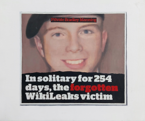 Hugh Mendes | Forgotten (Bradley Manning) | 2011 | Oil on linen | 25x30cm