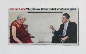 Hugh Mendes | Obama Lama | 2012 | Oil on linen | 20x30cm
