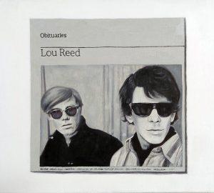 Hugh Mendes | Obituary: Lou Reed | 2014 | Oil on linen | 30x35cm