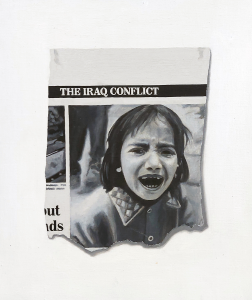 Hugh Mendes | The Iraq Conflict | 2003 | Oil on linen | 30x25cm