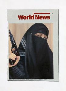 Hugh Mendes | World News 2010 | 2010 | Oil on linen | 35x25cm