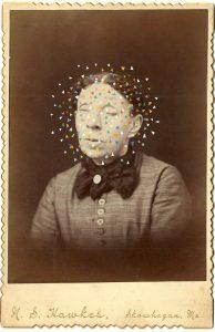 Tom Butler   Hawkes   2014   Gouache on Albumen print   16.5×10.5cm