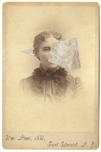 Tom Butler   WM Nims   2014   Gouache on Albumen print   16.5×10.5cm