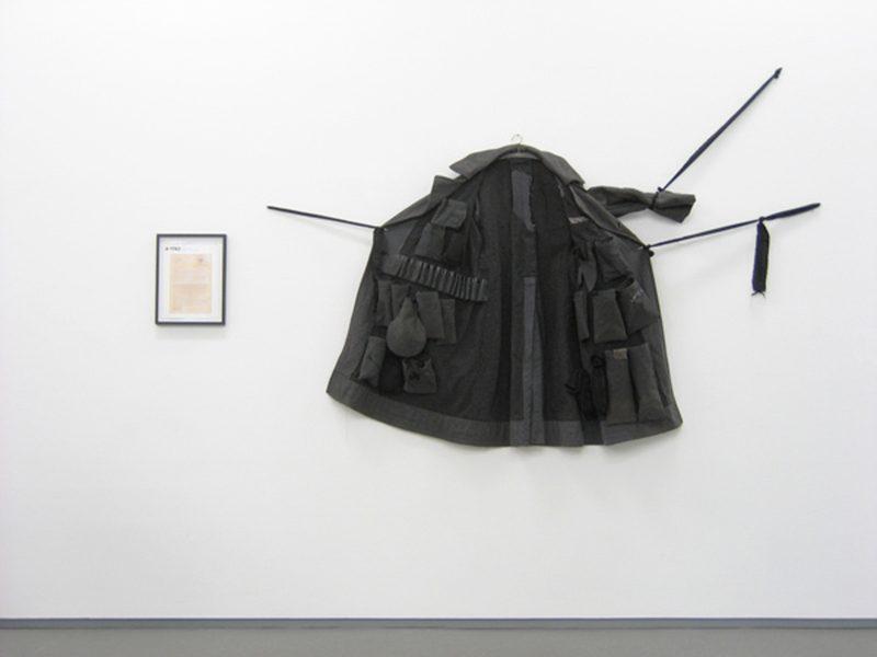 Jana Gunstheimer | SBK #1743, The Coat of Werner Hofbichler | 2008 | Coat & inkjet print | Dimensions variable