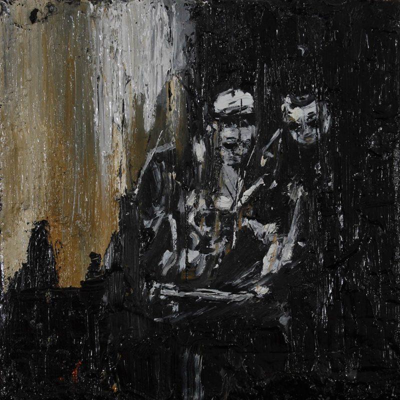 Luke Jackson | Adapter | 2012 | Oil & mixed media on canvas | 15.5×15.5cm