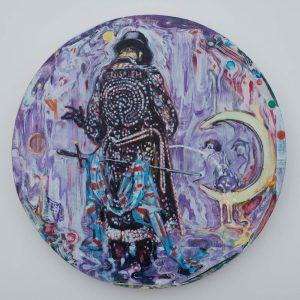 Dominic Shepherd | The Alchemist | 2013 | Oil on canvas | 40cm diameter