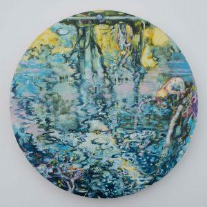 Dominic Shepherd | The River | 2013 | Oil on canvas | 40cm diameter