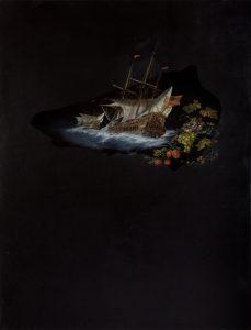 Emma Bennett | The Going | 2010 | Oil & French enamel on canvas | 170x130cm