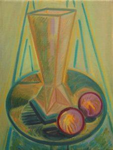 Kiera Bennett | Vase Onions | 2011 | Oil on linen | 40x30cm