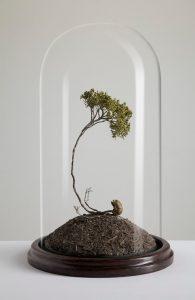 Hugo Bruce | Life Ever After | 2012 | Brass, epoxy, plastics and glass dome | 30x30x40cm