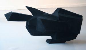 Richard Ducker | Dark Matter | 2011 | Compressed foam and flock | 110x60x60cm