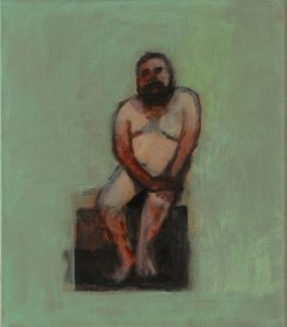 John Dougill | The Big Man (Ai Weiwei) | 2011 | Oil on linen | 40.6×35.6cm