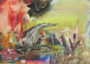 Nadine Feinson   Untitled 1   2011   Oil on paper   20x27cm   (28x33cm inc. border)