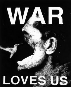 Florian Heinke | War Loves Us 01 | 2013 | Acrylic on untreated cotton | 100x80cm