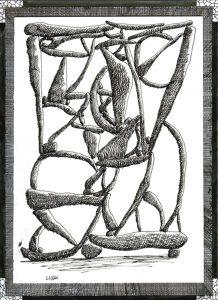 Christian Hidaka  Untitled (Balancing Rocks)   2004   Ink on paper   29.5×20.5cm