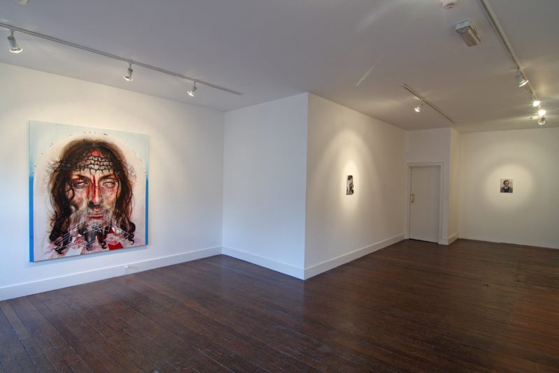 A King's Gambit Accepted   Gavin Nolan   CHARLIE SMITH LONDON   Installation View (2)   2010