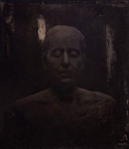 Virgile Ittah | And new sleep had that deprived memory | 2013 | Ambrotype, black wax | 60x50cm (Detail) | (1111×1280)