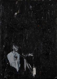 Luke Jackson   Decades   2012   Oil & mixed media on canvas   21x15cm