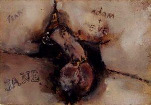 Sam Jackson   Adam & Eve   2013   Oil on Board   10.1×15.1cm