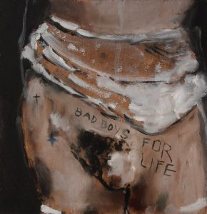 Sam Jackson   Bad Boys for Life   2014   Oil on board   20×19.5cm