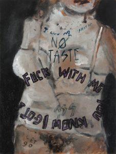 Sam Jackson   Let Go (No taste)   2014   Oil on board   26x20cm