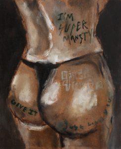 Sam Jackson   Super Mansty   2014   Oil on board   17.5×14.2cm