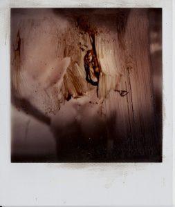 Sam Jackson   Upside Down Head   2011   Polaroid & oil paint   10.7×8.8cm