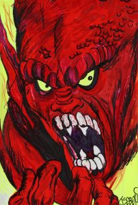 James Jessop   Raising Hell   2011   Acrylic on paper   42×28.5cm