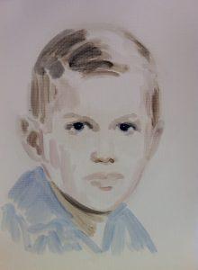 Annie Kevans  George W, Bush   2011   Oil on paper   40.5×30.5cm